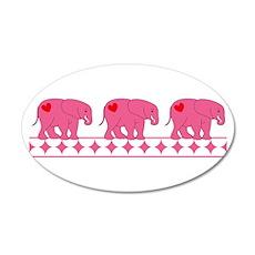 Triplet Elephants Wall Decal
