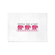 Triple The Love! 5'x7'Area Rug