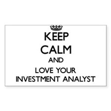 Keep Calm and Love your Investment Analyst Decal