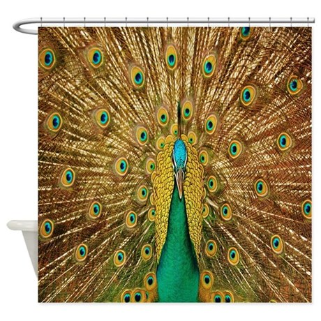 Peacock Shower Curtain By Coolbedding