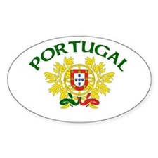 Portugal Coat of Arms Oval Decal