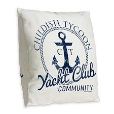 Childish Tycoon Burlap Throw Pillow