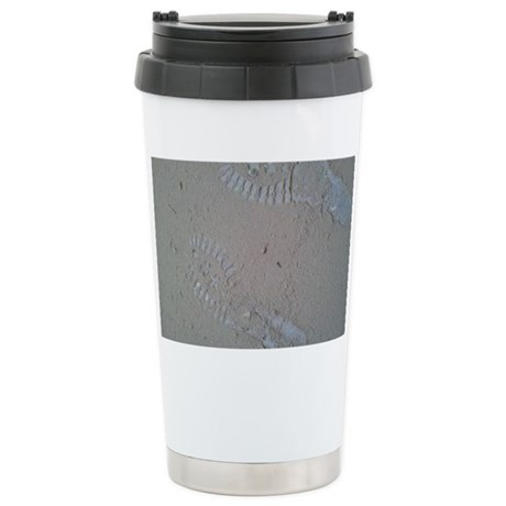 Sand Footprints Stainless Steel Travel Mug