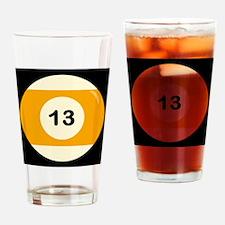 Thirteen Ball Drinking Glass