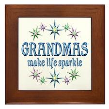 Grandmas Sparkle Framed Tile