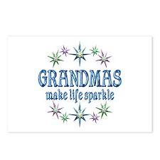 Grandmas Sparkle Postcards (Package of 8)