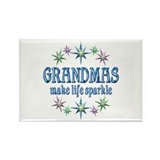 Grandmas Sparkle Rectangle Magnet