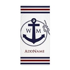 Anchor Nautical Monogram Beach Towel