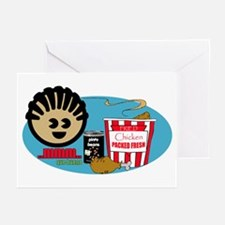 Fried Chicken and Be Greeting Cards (Pk of 10)