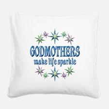 Godmothers Sparkle Square Canvas Pillow