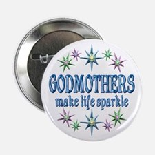 "Godmothers Sparkle 2.25"" Button"