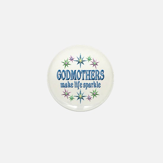 Godmothers Sparkle Mini Button
