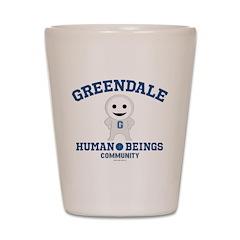 Greendale Human Beings Shot Glass