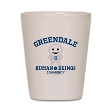 Greendale Human Beings Shot Glass