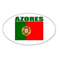 Azores, Portugal Oval Decal