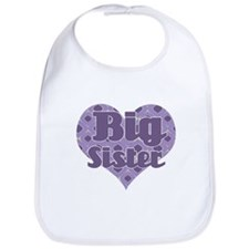 Big sister - Purple Heart Bib