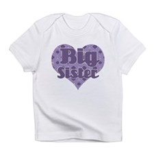 Big sister - Purple Heart Infant T-Shirt
