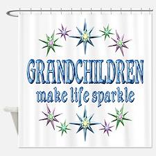 Grandchildren Sparkle Shower Curtain