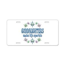 GODDAUGHTERS SPARKLE Aluminum License Plate