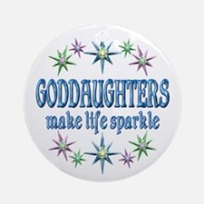 GODDAUGHTERS SPARKLE Ornament (Round)