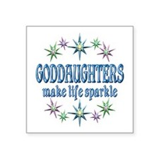 "GODDAUGHTERS SPARKLE Square Sticker 3"" x 3"""