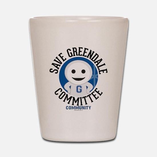 Save Greendale Committee Shot Glass