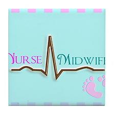 Nurse Midwife 4 Tile Coaster