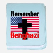 Remember Benghazi baby blanket