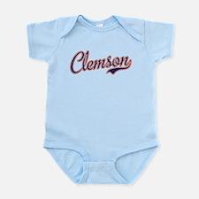 Clemson Script Font Infant Bodysuit