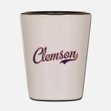 Clemson Script Font Shot Glass