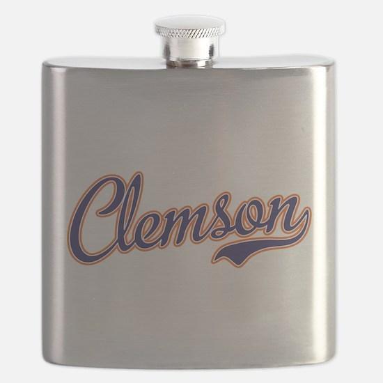 Clemson Script Font Flask