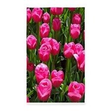 floral_pink_tulips 3'x5' Area Rug