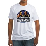 Troy and Abed Superheroes Fitted T-Shirt
