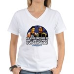 Troy and Abed Superheroes Women's V-Neck T-Shirt