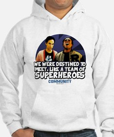 Troy and Abed Superheroes Hoodie