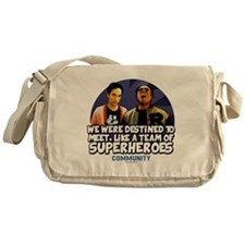 Troy and Abed Superheroes Messenger Bag