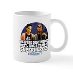 Troy and Abed Superheroes Mug