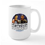 Troy and Abed Superheroes Large Mug