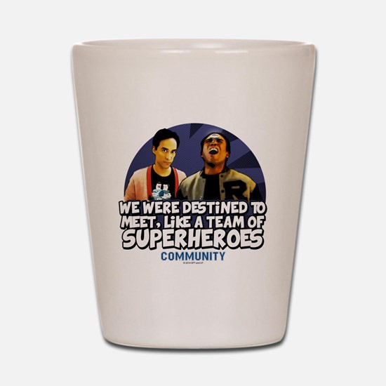 Troy and Abed Superheroes Shot Glass