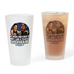 Troy and Abed Superheroes Drinking Glass