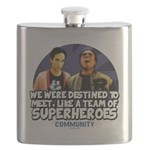 Troy and Abed Superheroes Flask