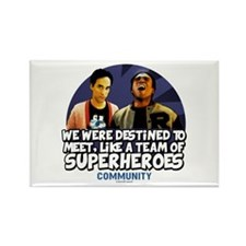 Troy and Abed Superheroes Rectangle Magnet