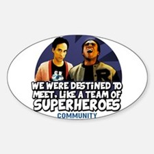 Troy and Abed Superheroes Decal