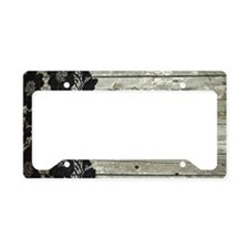 grey barn wood lace western country License Plate