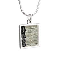 grey barn wood lace western country Necklaces