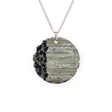 grey barn wood lace western country Necklace Circl
