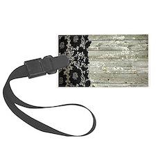grey barn wood lace western country Luggage Tag