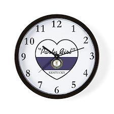 Party Girl Kentucky Wall Clock