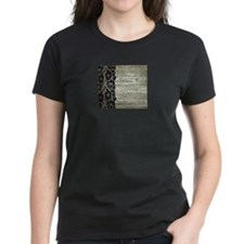 grey barn wood lace western country T-Shirt