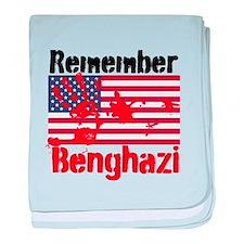 Remember Benghazi baby blanket